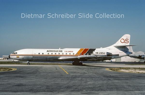 1988-03 HK-2850 Caravelle Aerosucre Colombia