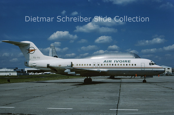 1987-07 TU-TIJ Fokker 28 Air Ivoire