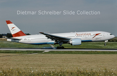 2009-08 OE-LPC Boeing 777-2Z9ER (c/n 29313) Austrian Airlines