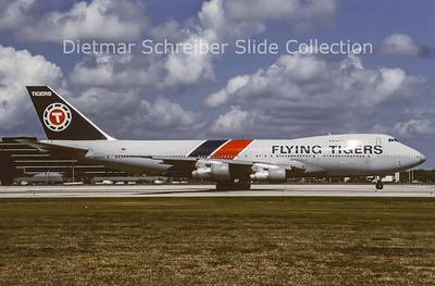 1989-01 N822FT Boeing 747-100 Flying Tigers