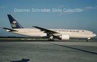 2009-08 HZ-AKK Boeing 777-268ER (c/n 28354) Saudia