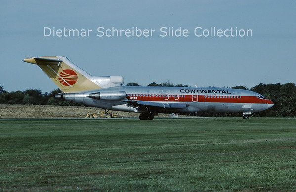 1986-10 N1973 Boeing 727-100 Continental Airlines