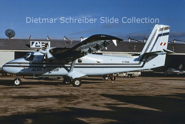1991-04 C-FKBI DHC6 Twin Otter Aero Condor