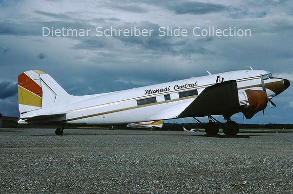 1988-09 CF-YQG Douglas DC3 Nunasi Central
