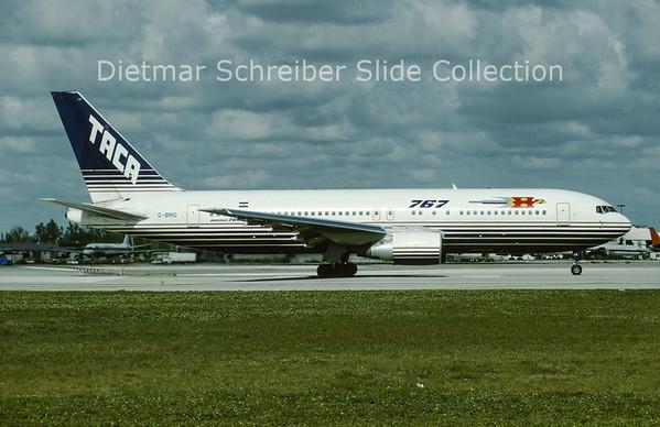 1993-04 G-BRIG Boeing 767-200 TACA International