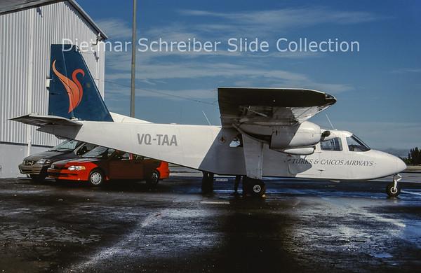 2000-10 VQ-TAA Britten Norman BN2 Turks & Caicos Airways