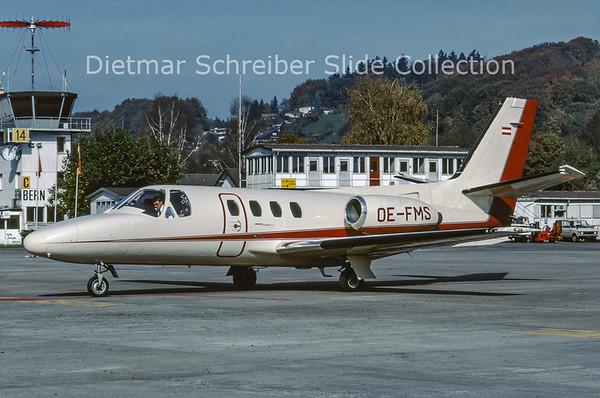1988-12 OE-FMS Cessna 500 Citation 1 Tyrolean Jet Service