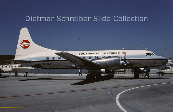1987-06 N73121 Convair 580 Continental Express