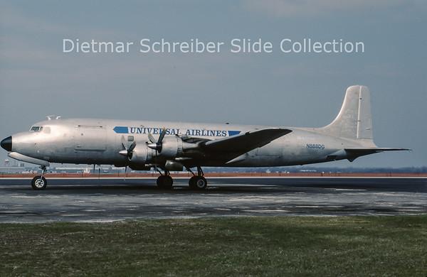 1990-04 N888DG Douglas DC6 Universal Airlines