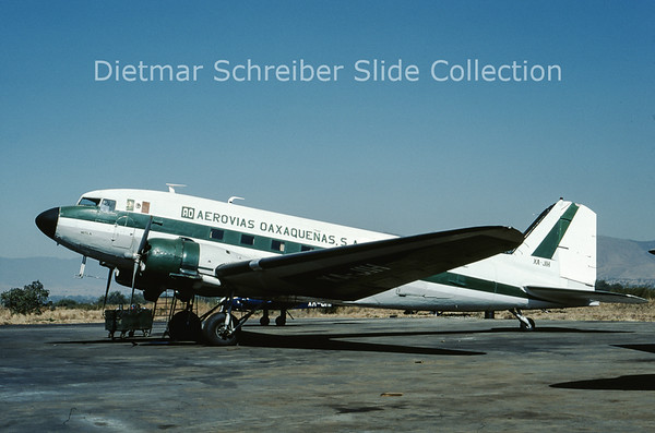 1989-03 XA-JIH Douglas DC-3C (c/n 9904) Aerovias Oaxaquenas
