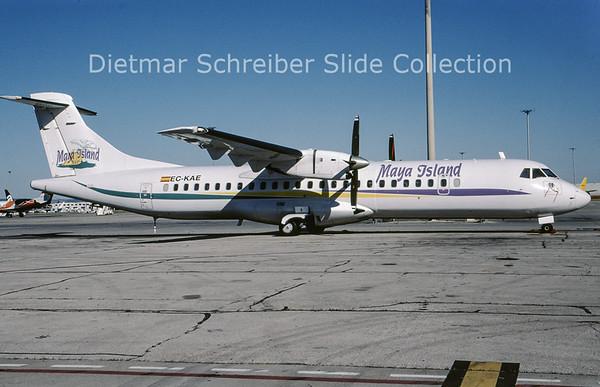 2009-06 EC-KAE ATR72-202 (c/n 192) Maya Island