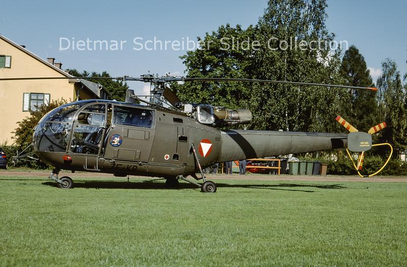 2000-06 3E-KB Aerospatiale SA315 Alouette Austrian Air Force