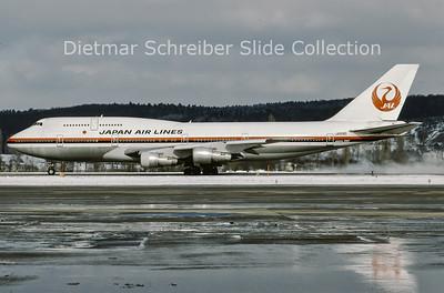 1992-02 JA8185 Boeing 747-300 Japan Airlines