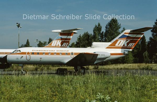 OK-EEG Yakovlev 40 (c/n 9441037) CSA Czech Airlines