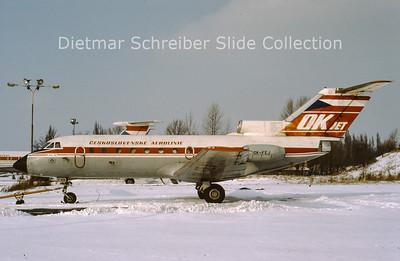 OK-FEJ Yakovlev 40 (c/n 9510540) CSA Czech Airlines