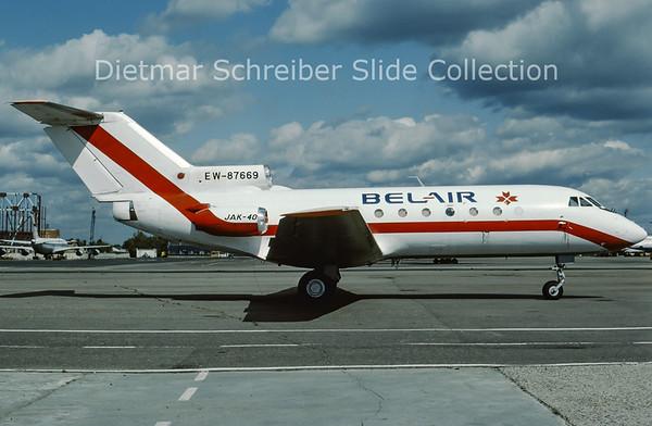 1998-09 EW-87669 Yakovlev 40 (c/n 9021760) Belair