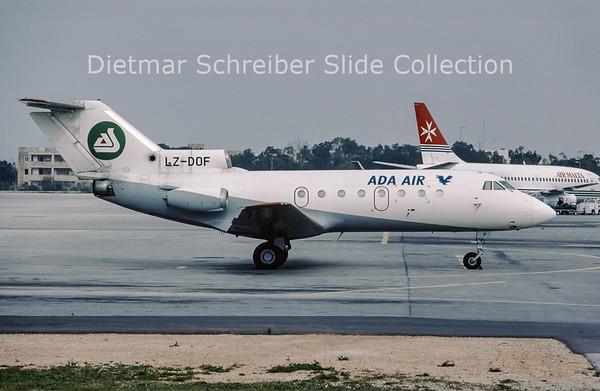 2002-03 LZ-DOF Yakovlev 40 (c/n 9521541) Ada Air Albania