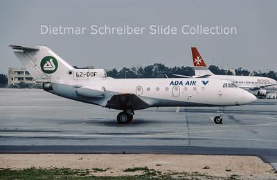 2002-03 LZ-DOF Yakovlev 40 Ada Air Albania