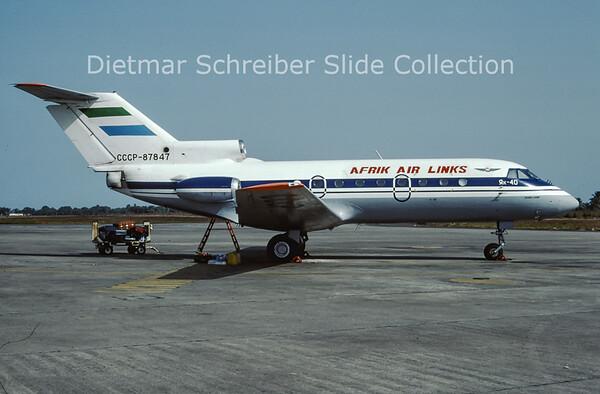 CCCP-87847 Yakovlev 40 Afrik Air Links