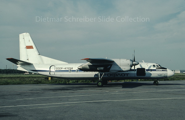 1990-07 CCCP-47258 Antonov 24 Aeroflot - Soviet Airlines