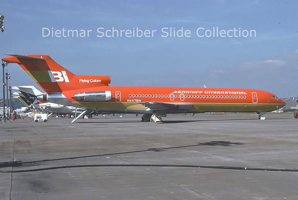 1976-09 N447BN Boeing 727-227 (c/n 21248) Braniff