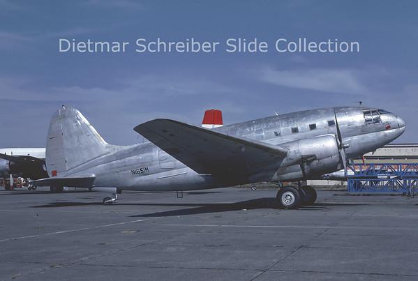 1982-08 N1651M Curtiss C46 Evans Aviation