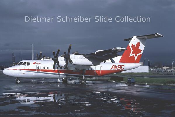 1987-10 C-GFEL DHC Dash 7-100 (c/n 3) Air BC