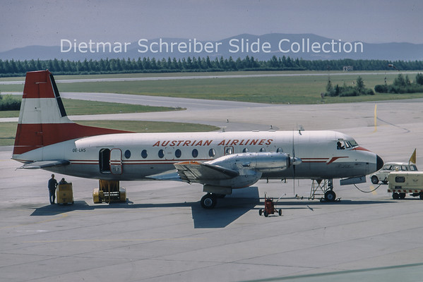1968-07 OE-LHS Hawker Siddely 748-2/226 (c/n 1589) Austrian Airlines