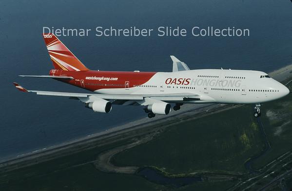 2007-05 B-LFA Boeing 747-412 (c/n 24063) Oasis Hong Kong