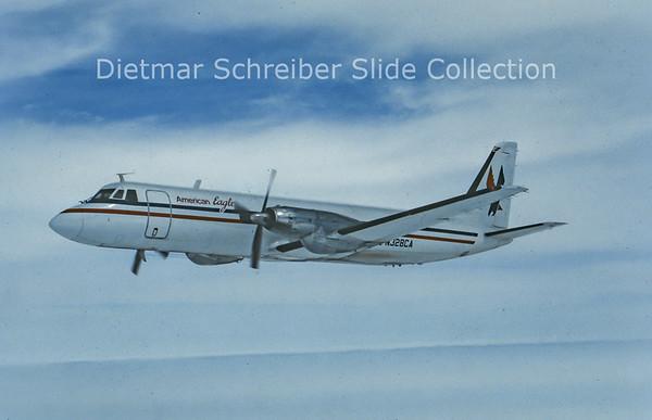 1985-11 N328CA Gulfstream 1 (c/n 116) Chaparral Airlines