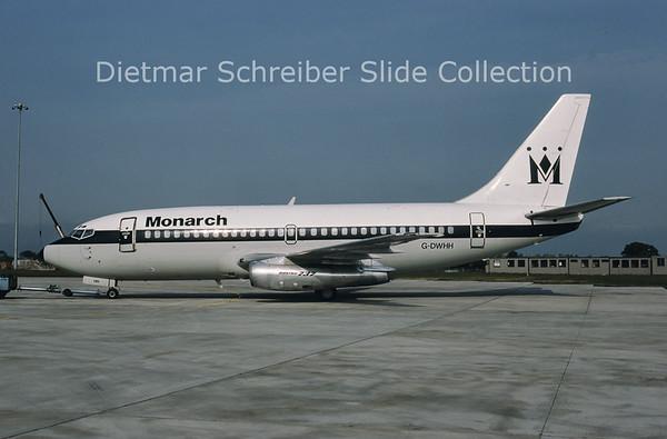1984-06 G-DWHH Boeing 737-2T7 (c/n 22761) Monarch