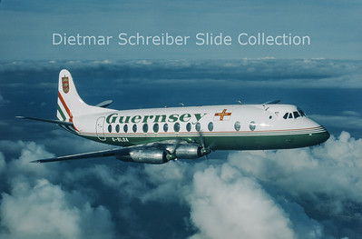 1986-11 G-BLOA Vickers Viscount 806 (c/n 259) Guernsey Airlines