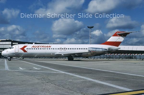 1981-10 OE-LDE Douglas DC9-32 (c/n 47531) Austrian Airlines