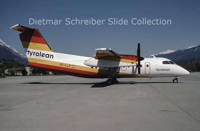 1987-05 OE-LLP Bombardier Dash 8-103 (c/n 076) Tyrolean Airways