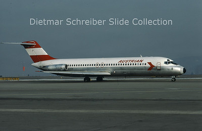 1981-04 OE-LDD Douglas DC9-32 (c/n 47539) Austrian Airlines
