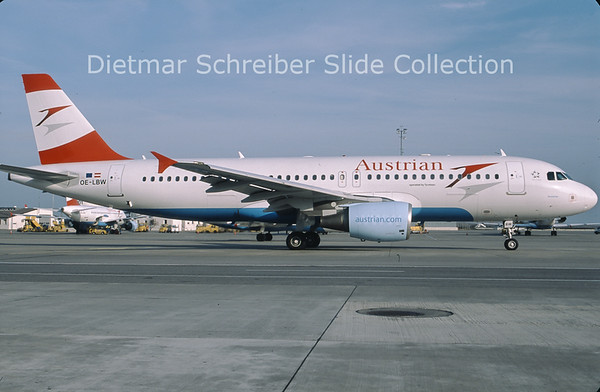 2013-01 OE-LBW Airbus A320-214 (c/n 1678) Austrian Airlines