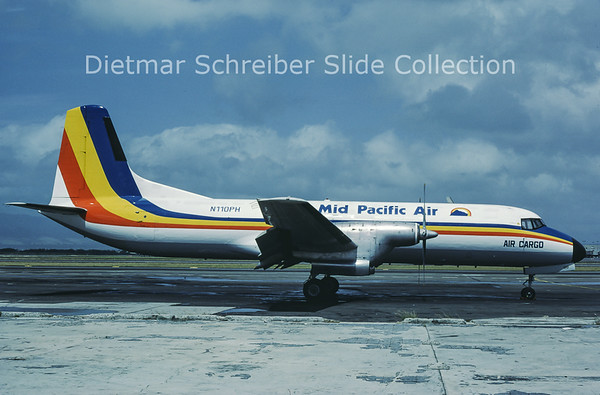 1986-03 N110PH NAMC YS11A-306 (c/n 2072) Mid Pacific Air