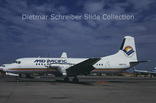 1989-08 N907TC NAMC YS11A-208 (c/n 2066) Mid Pacific Air