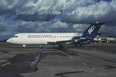 1990 G-BBMF BAC 1-11 Birmingham European Airways