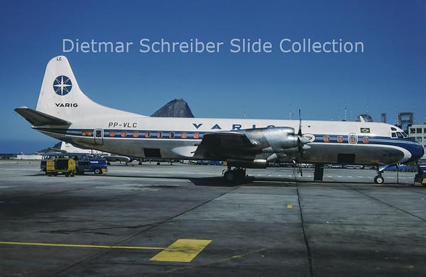 1988-11 PP-VLC Lockheed L188 Electra Varig Brasil