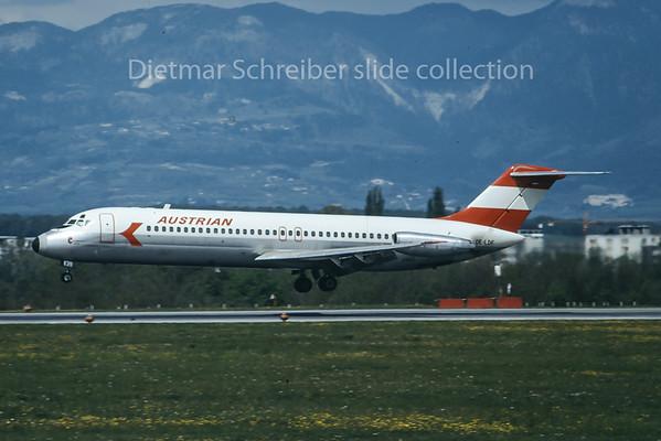 1975-05 OE-LDF Douglas DC9-30 Austrian Airlines