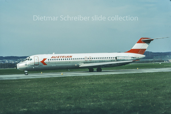 1982-04 OE-LDI Douglas DC9-30 Austrian Airlines