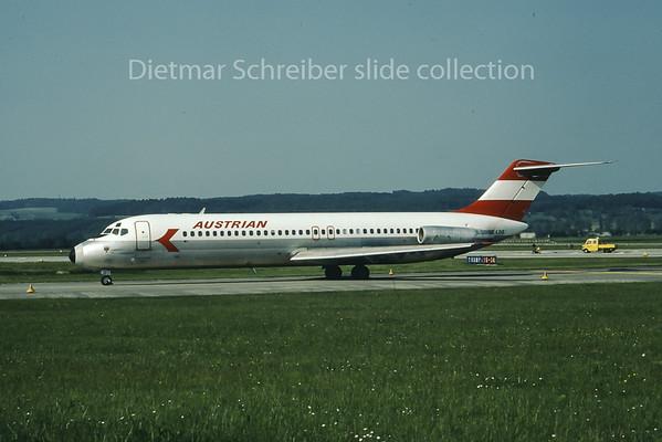 1980-07 OE-LDG Douglas DC9-30 Austrian Airlines