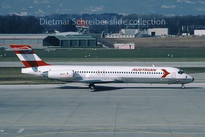 1988-02-14 OE-LML MDD MD87 Austrian Airlines