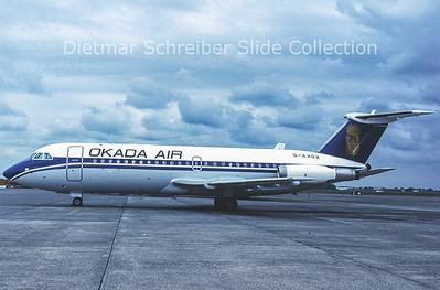 1990-07 G-AXOX BAC 1-11 Okada Air