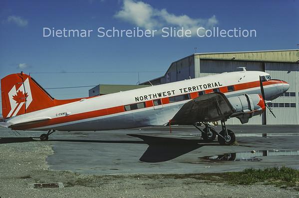 1986-06 C-FNWU Douglas DC3 Northwest Territoral