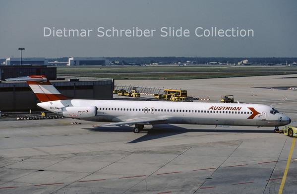 1987-06-30 OE-LDW MDD MD81 (c/n 48059) Austrian Airlines