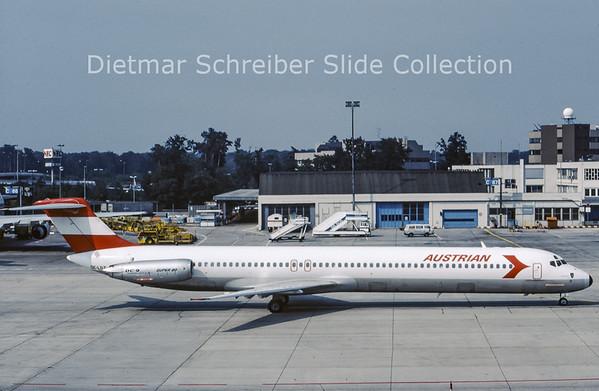 1987-07-04 OE-LDZ MDD MD81 (c/n 49164) Austrian Airlines