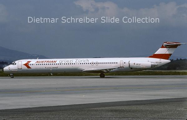 1995-06 OE-LDV MDD MD81 (c/n 48020) Austrian Airlines