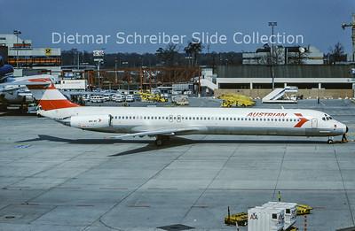 1988-04-16 OE-LMB MDD MD81 (c/n 49279) Austrian Airlines